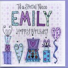 personalised niece birthday card by claire sowden design