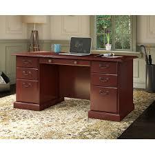 Bush Bennington L Shaped Desk Bush Bennington L Shaped Desk Harvest Cherry Hayneedle