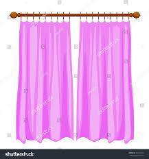 Curtain Cartoon by Vector Illustration Abstract Violet Cartoon Curtains Stock Vector