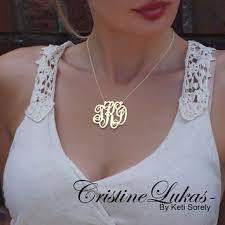 large monogram necklace best small gold monogram necklace products on wanelo