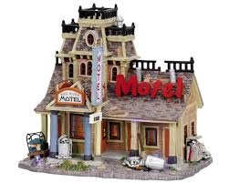 Lemax Halloween Houses by Amazon Com Lemax Spooky Town Halloween Village Red River Motel