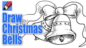 how to draw christmas bells real easy youtube