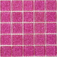 Pink Tile Bathroom by Pink Glass Square Tile Glossy Blgd507 Pink Glass Bathroom Tiles Tsc
