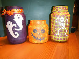dream it yourself diy decoupage halloween jars