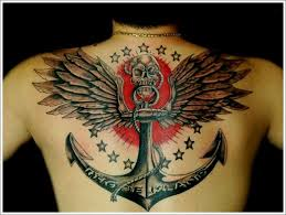 the wing and anchor designs for on back tats