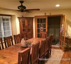 Mission Style Dining Room Tables - reclaimed barnwood dining table mission style dining