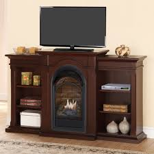 Fireplaces With Bookshelves by Duluth Forge Dual Fuel Ventless Fireplace With Bookshelves