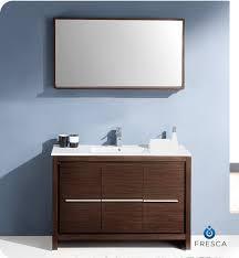 fresca allier 36 quot wenge brown modern bathroom vanity w fresca fvn8148wg allier 48 modern bathroom vanity with mirror in