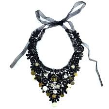 crystals fashion necklace images Crystals and flowers lace collar necklace rings tings online jpg
