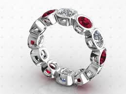 ruby band white gold ruby diamond ring diamond housealexis