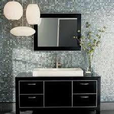 trending in bathroom decor glass tile dark bathrooms mosaic