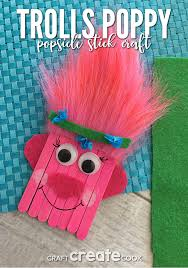 craft create cook trolls poppy popsicle stick craft for kids