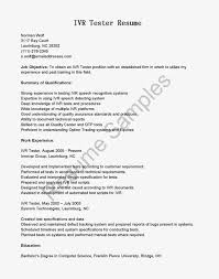 Sample Resume For Qtp Automation Testing by Manual Testing Resume Format