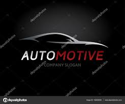 sports car logos automotive car logo design with concept sports vehicle silhouette