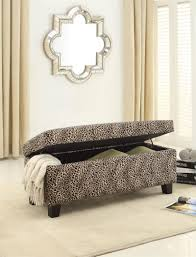 leopard print storage bench clair collection