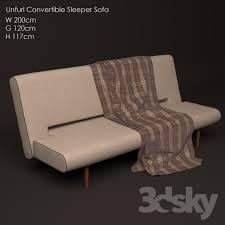 Unfurl Sofa 3d Models Sofa Unfurl Convertible Sleeper Sofa