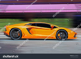 lamborghini aventador headlights lamborghini aventador high speed supercar motion stock photo