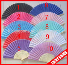held fans bulk wedding souvenir bulk decorative plain color cheap silk fans