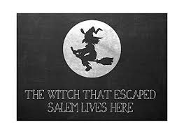 Flying Witch Decoration Buy The Witch That Escaped Salem Lives Here Print Flying Witch