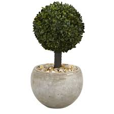 nearly 2 ft high indoor outdoor boxwood topiary artificial