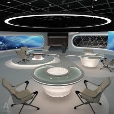 virtual news studio 028 3d model tv studio stage set design