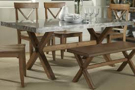 Natural Wood Dining Room Table by Luxury Dining Room Set With Bench Stainless Steel Top Dining Table