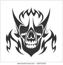 skull tribal tattoo stock vector 10082773 shutterstock