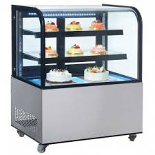 Muffin Display Cabinet Dry Bakery Display Cases Non Refrigerated Food Display Cases With