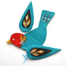 felt embroidered bird ornament mmmcrafts stitches