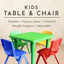 Activity Table For Kids Green Chairs And Tables For Children Ebay