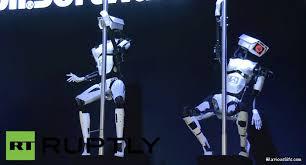 Pole Dancing Memes - robotic pole dancers hilariousgifs com