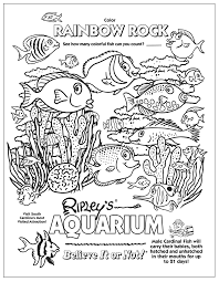 aquarium coloring page kids coloring book pinterest