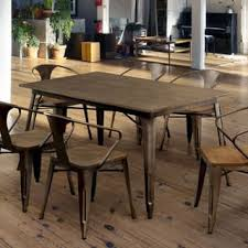 industrial dining room table metal kitchen dining room tables for less overstock com