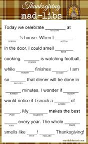 thanksgiving mad libs keep the kids and even the adults happy