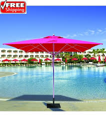 Commercial Patio Umbrella Best Selection Large Commercial Umbrellas Galtech 10 Ft Square
