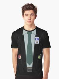 alien hunting fbi agent costume t shirt the x files fox mulder