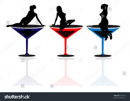 martini cup cartoon girls martini glasses vector stock vector 9541624 shutterstock