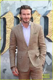 david beckham is joined by brooklyn at the premiere of u0027king