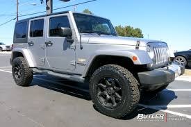 jeep wrangler with 18in black rhino glamis wheels butler tire