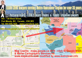 Metro Map Google by Lawyers Office Location Street Map Of Metro Vancouver Region And