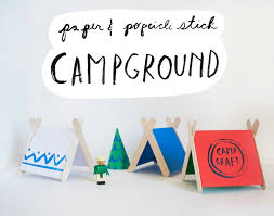 paper u0026 popsicle stick campground activity by mer mag kidscraft