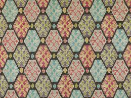 Multi Coloured Upholstery Fabric Multicolor Ikat Cotton Upholstery Fabric By The Yard Aqua Grey