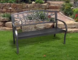 Metal Garden Chair One Allium Way Georgiana Metal Garden Bench U0026 Reviews Wayfair