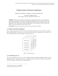 wireless sensor network architecture pdf download available