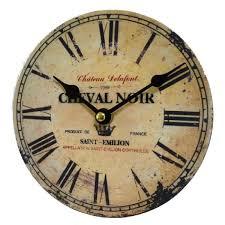 Pendules De Cuisine Originales by Horloge Murale Pendule Ronde En Bois Et Papier Cheval Noir Saint