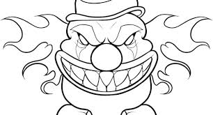 Clowns Coloring Pages Holidayvillas Co Scary Coloring Paes