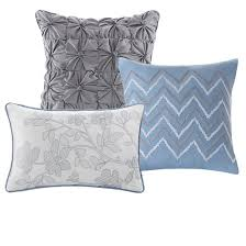 Blue Quilted Coverlet Willow Watercolor Floral Quilted Coverlet Set 6pc Target
