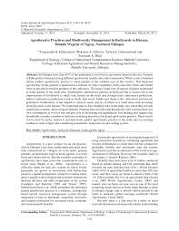 agroforestry practices and biodiversity management in backyards in