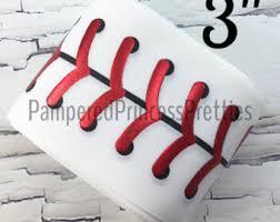 baseball ribbon printed ribbon etsy