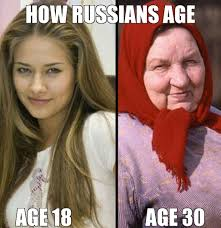 Asian Lady Aging Meme - how russians age imgur